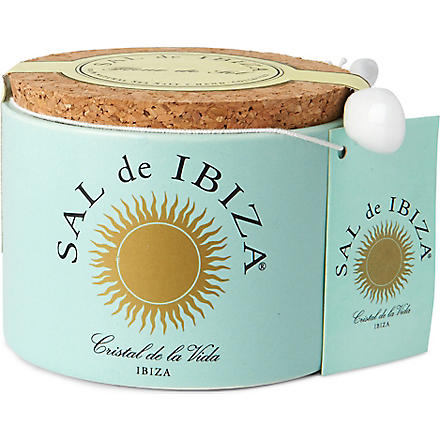 IBIZA Fleur de Sel natural sea salt ceramic pot 125g