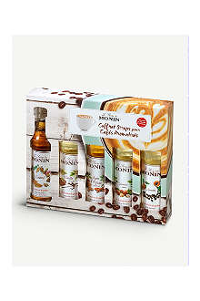 MONIN Flavoured coffee syrups sampler set 5 x 50ml