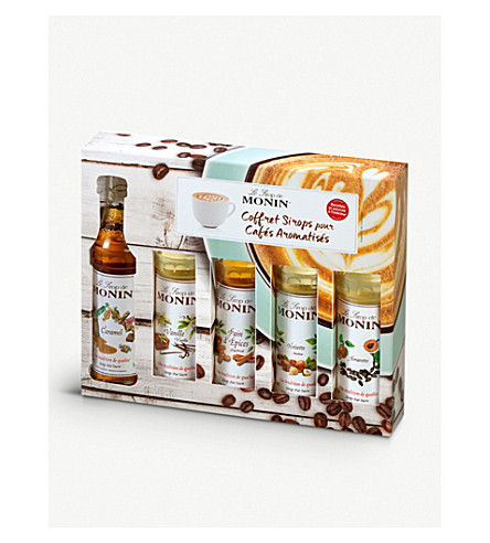 COFFEE Flavoured coffee syrups sampler set 5 x 50ml