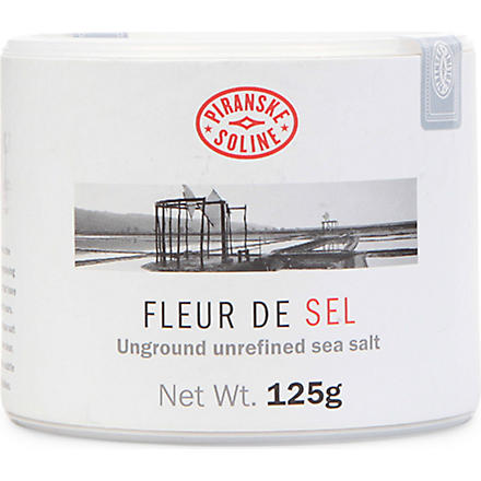 PIRANSKE SOLINE Fleur de Sel unground and unrefined sea salt tube 125g