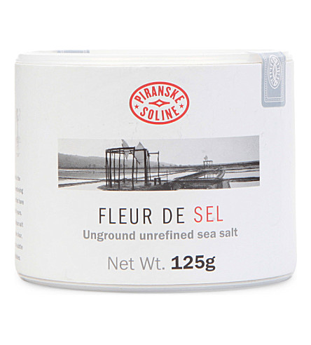 Fleur de Sel unground and unrefined sea salt tube 125g
