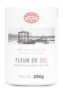 PIRANSKE SOLINE Fleur de Sel unground and unrefined sea salt tube 250g