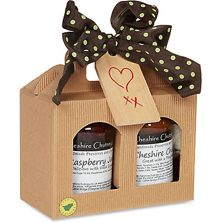 THE CHESHIRE CHUTNEY COMPANY Chutney and Jam jar gift set 550g