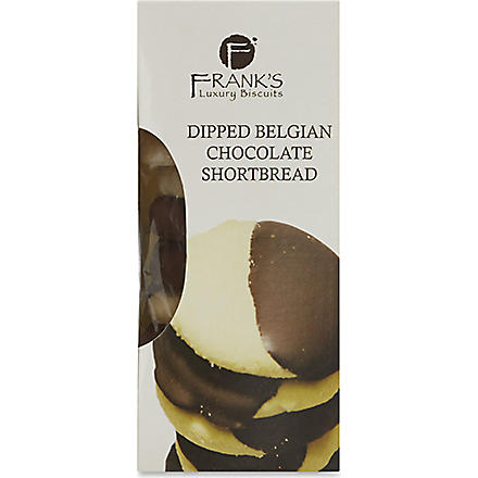 FRANK'S Dipped chocolate shortbread 150g