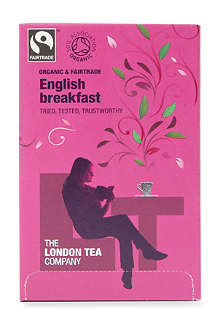 LONDON TEA Organic English Breakfast tea sachets 40g