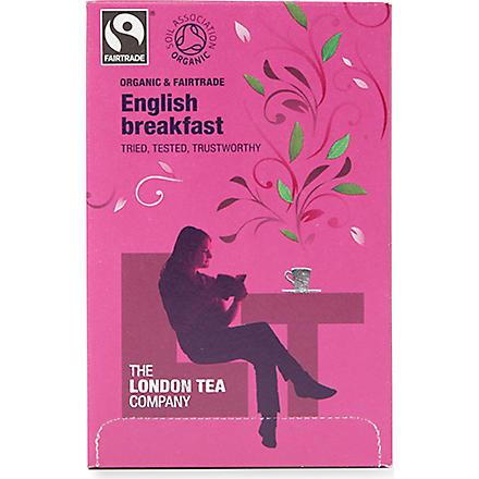 LONDON TEA Organic English Breakfast tea sachets 40g