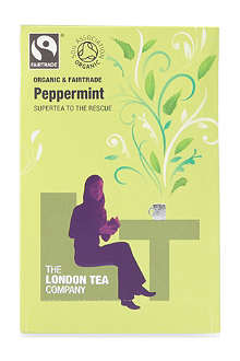 LONDON TEA Organic Peppermint tea sachets 40g