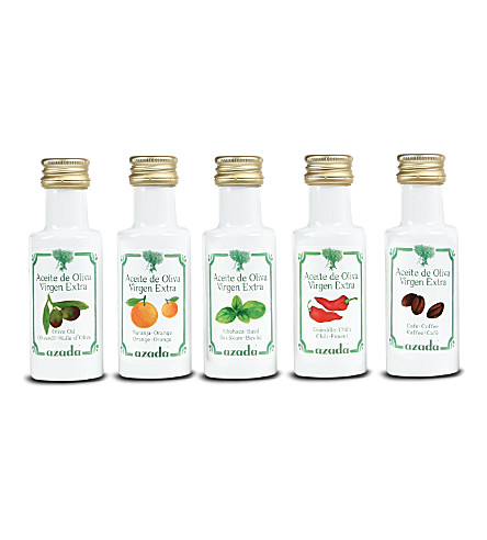 AZADA Set of five flavoured extra virgin olive oils 5 x 20ml