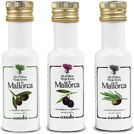 AZADA Set of three Arbequina extra virgin olive oils 3 x 100ml
