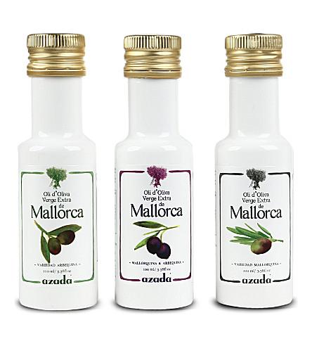 AZADA Set of three Arbequina extra virgin olive oils 3 x 100ml