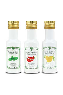 AZADA Set of three flavoured olive oils 3 x 300ml