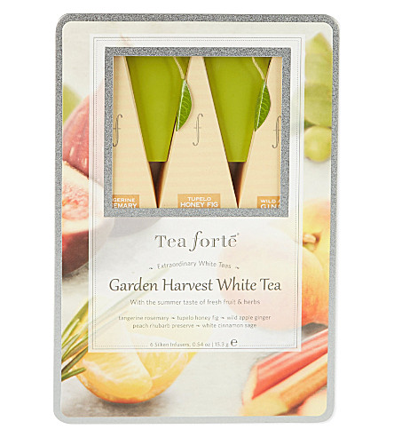 TEA FORTE Garden Harvest White Tea gift tin