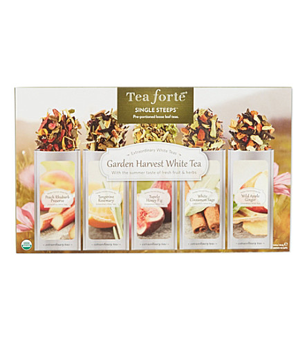 TEA FORTE Single Steeps Garden Harvest White Tea