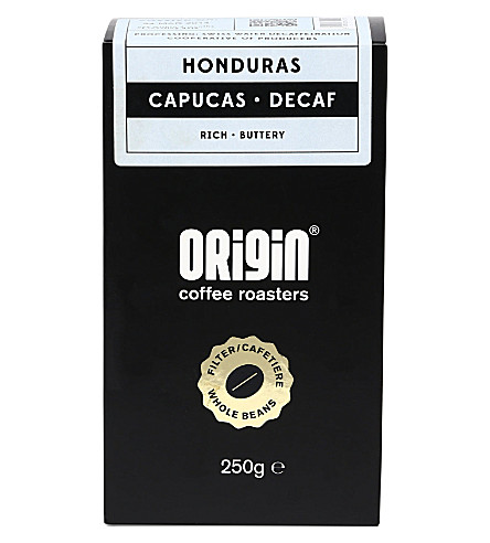 ORIGIN COFFEE Honduras Capucas decaf coffee 250g
