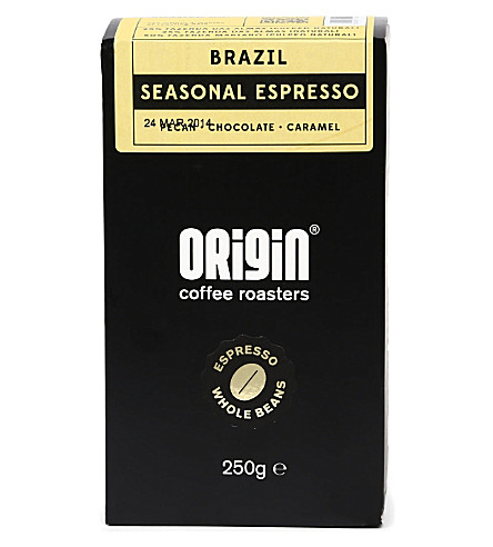 ORIGIN COFFEE Brazil seasonal espresso roast coffee 250g
