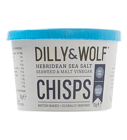 DILLY & WOLF Sea salt, seaweed & malt vinegar chisps 35g