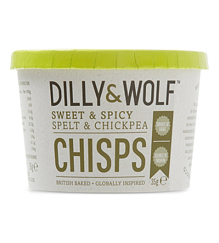 DILLY & WOLF Sweet & spicy spelt & chickpea chisps 35g