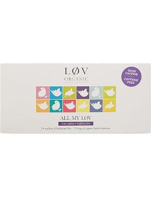 LOV ORGANIC All My Løv caffein-free muslin teabags 48.4g