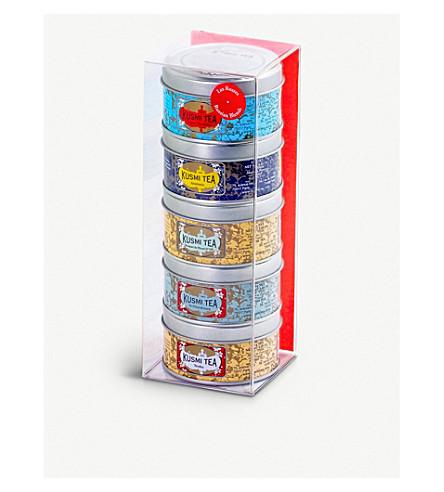 KUSMI TEA Russian Blend Teas Miniature sampler set 5x25g
