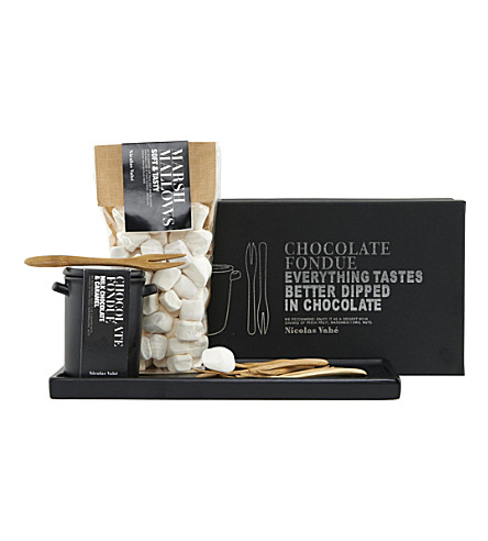 Milk chocolate & caramel fondue kit 180g