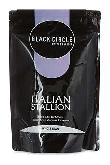 BLACK CIRCLE Italian stallion whole bean coffee 227g