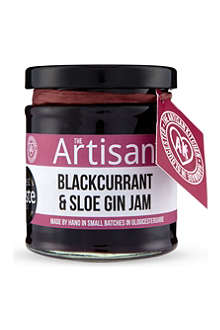 THE ARTISAN KITCHEN Blackcurrent & sloe gin jam 200g