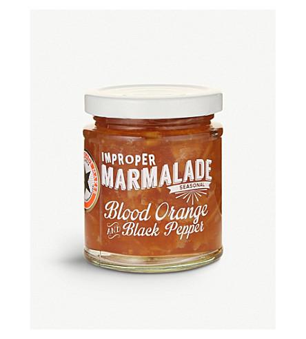 THE PROPER MARMALADE COMPANY Blood orange and black pepper marmalade 227g
