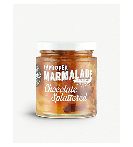 THE PROPER MARMALADE COMPANY Chocolate splattered marmalade 227g