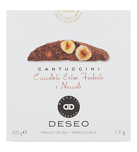 DESEO Cantuccini dark chocolate and hazelnut biscuits 150g