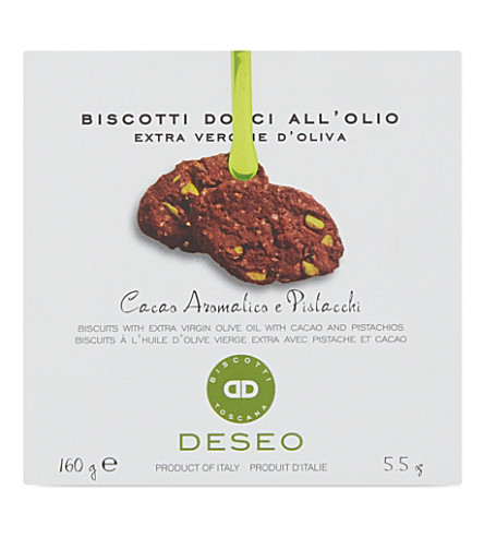 DESEO Cacao and pistachio biscuits 160g