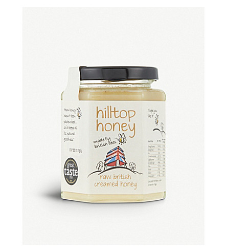 HILLTOP HONEY Raw British creamed honey 340g