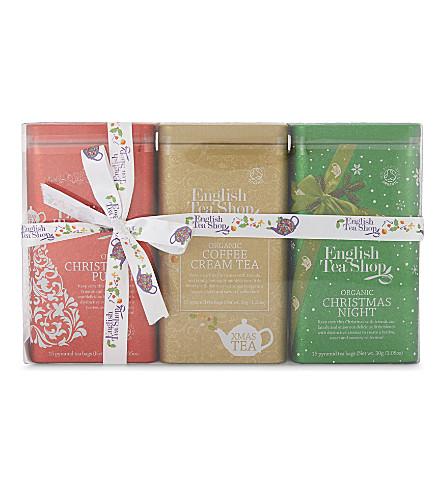 ENGLISH TEA SHOP Christmas tea trio selection 90g
