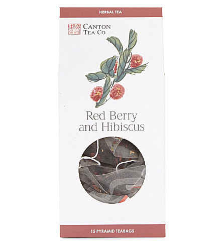 TEA Red berry and hibiscus pyramid tea bags 30g