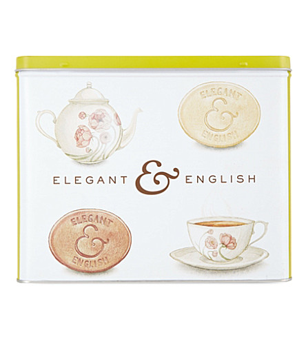 THE FINE CHEESE CO Elegant & English biscuit gift tin 375g