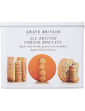 THE FINE CHEESE CO Cheese biscuit gift tin 300g