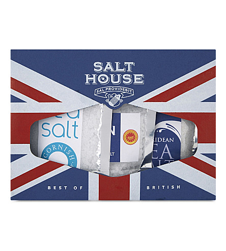 SALT HOUSE Best of British salt collection 3 sachets 180g