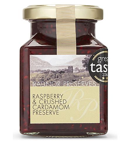 CONDIMENTS & PRESERVES Radnor Preserves raspberry & cardamom preserve 227g