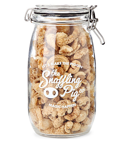 THE SNAFFLING PIG CO. Black pepper & salt pork scratchings 350g