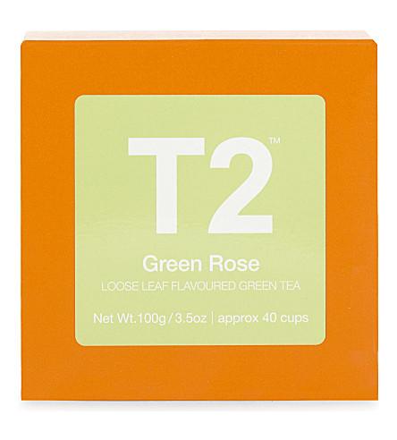 T2 绿玫瑰松叶香料绿茶100g