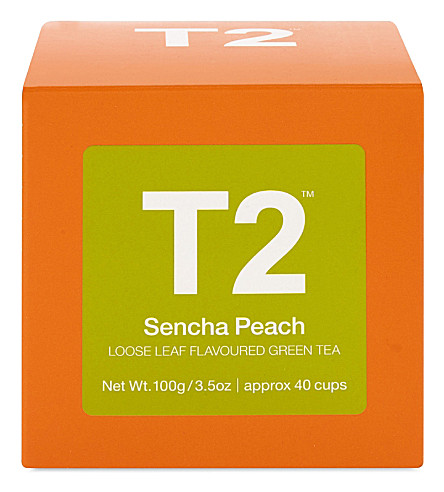 T2 Sencha Peach loose leaf tea cube 100g