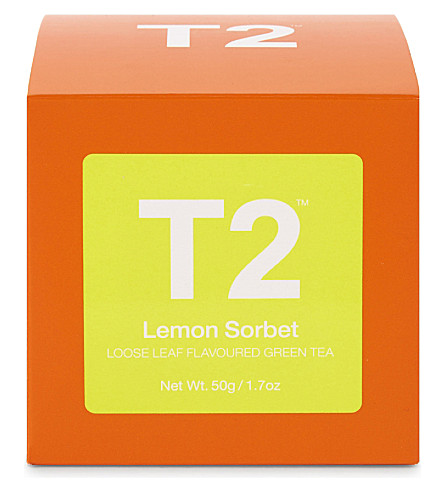 T2 Lemon sorbet loose leaf tea cube 50g