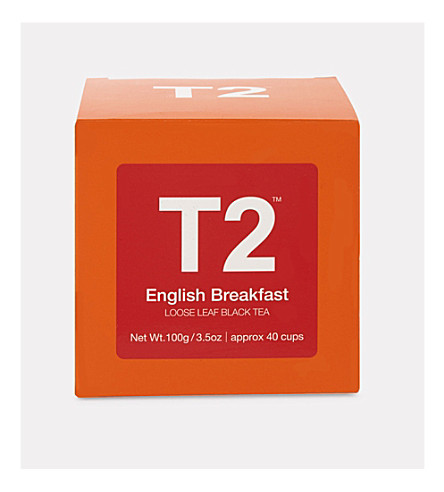 T2 English Breakfast loose leaf tea cube 100g