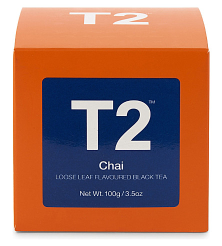 T2 Chai loose leaf tea cube 100g
