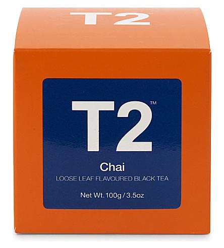 T2 Chai loose leaf tea cube 100g