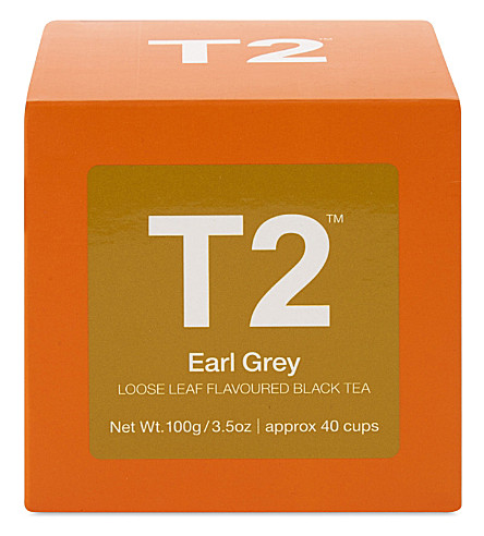 T2 Earl Grey loose leaf tea cube 100g