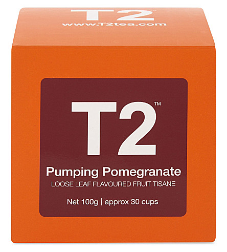 T2 Pumping Pomegranate loose leaf tea cube 100g