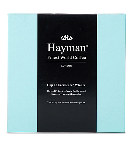 HAYMANS Cup of Excellence Winner coffee pods