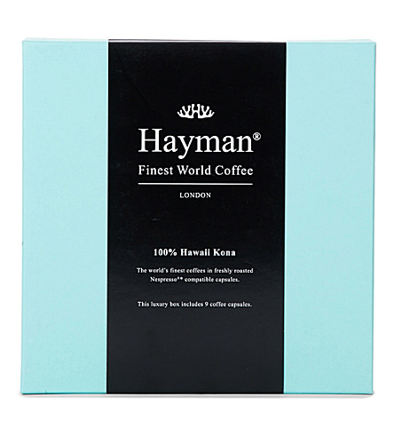 HAYMANS Hawaii Kona coffee pods