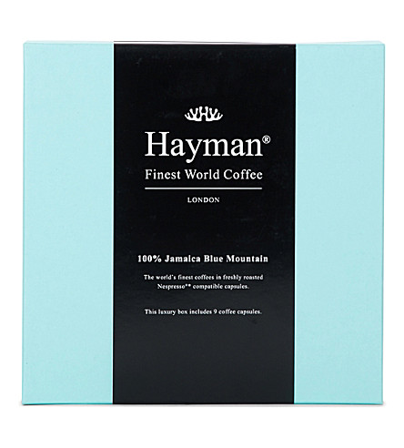 HAYMANS Jamaica Blue Mountain coffee pods