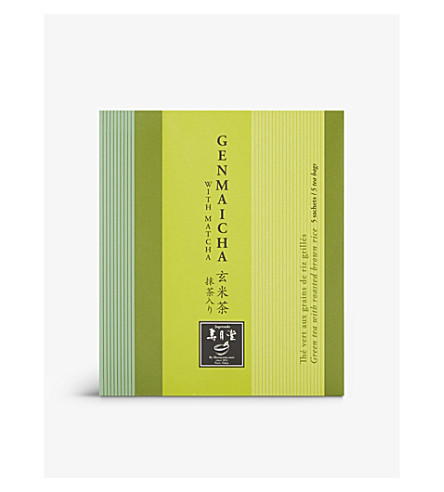 JUGETSUDO Genmaicha green tea with roasted brown rice sachets 5 pieces 10g